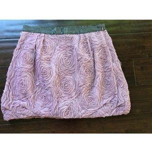 J Crew 2 Tulle Floral Textured Lavender Mini Skirt